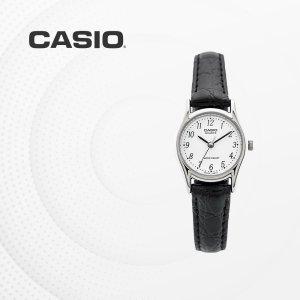 카시오 CASIO LTP-1094E-7B 가죽밴드 여성 손목시계