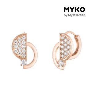 [미코주얼리] 14k 핀 하프문 귀걸이 MK3EC23