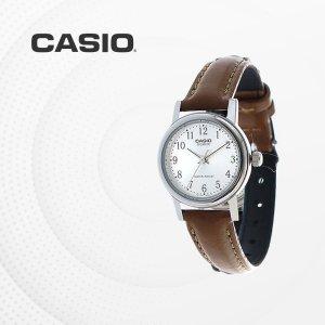 카시오 CASIO LTP-1095E-7B 가죽밴드 여성 손목시계