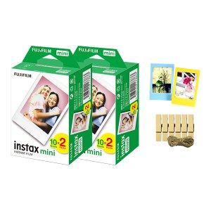 [중복할인 4% 더받기] 인스탁스미니필름4팩(40장)/나무데코+포토액자세트