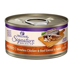 웰니스 코어 시그니쳐 셀렉트 슈레드 닭고기와 소고기 79g