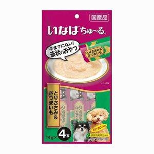 이나바 강아지 츄르 닭가슴살&고구마(DS-118) 14gx4개입
