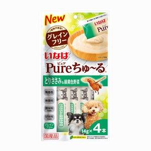 이나바 퓨어 강아지 츄르 닭가슴살&녹황색야채(DS-271) 14gx4개입