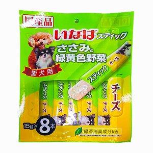 이나바 강아지 츄르 닭가슴살 젤릭스틱 야채&치즈(DS-92) 15gx8개입