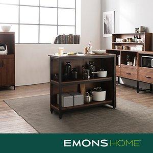 에몬스홈 인디 스틸 멀바우 다용도 홈바 테이블 900