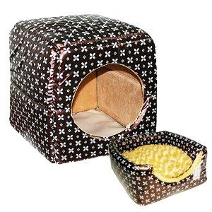 쏘아베 2way 큐브방석 커피(소형) 강아지방석