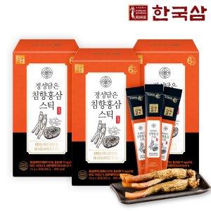 한국삼 정성담은 침향홍삼스틱 30포3박스/쇼핑백/추석