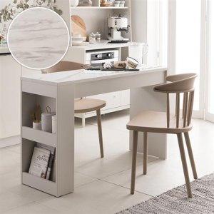 베이킹 2인 마블 수납식탁세트(체어2개)