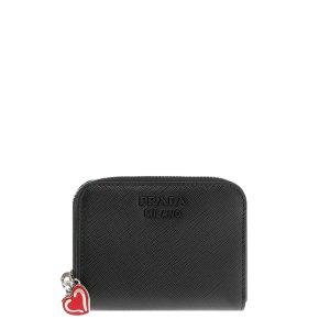 [프라다] 1MM268 2CHR F0002 사피아노 하트 카드지갑