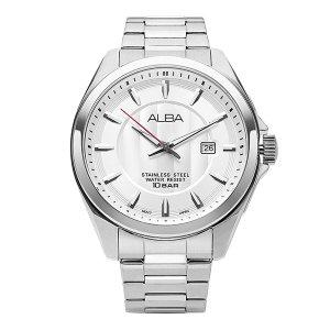 알바 ALBA AS9991X1 화이트 다이얼 남성 메탈 44mm