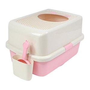 허니비 탑엔트리 고양이 화장실 핑크