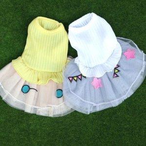 예쁜 강아지옷 원피스 봄 여름옷 퐁퐁 원피스