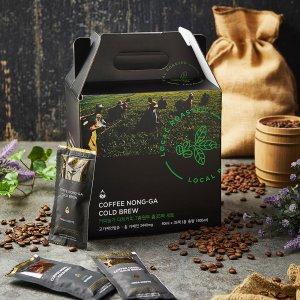 커피농가 더치커피 40ML 7종원두 총35팩 세트