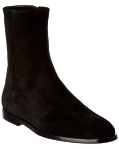 Theory Zip-Up Suede Bootie