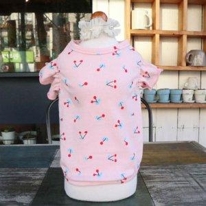 체리 꽃송이 강아지 나시티 봄여름옷 실내복