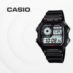 카시오 CASIO AE-1200WH-1A 군입대시계 훈련소시계
