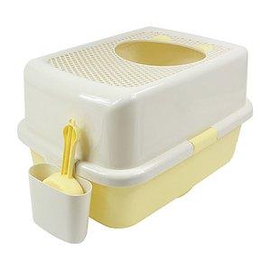 허니비 탑엔트리 고양이 화장실 옐로우