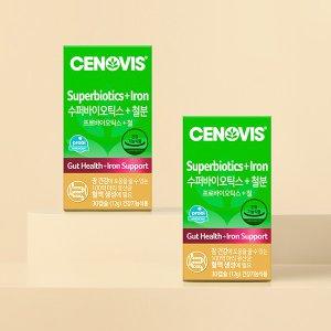세노비스 수퍼바이오틱스+철분(30캡슐/30일분) ×2개