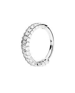 Pandora Silver Cz Sparkling Ice Cube Ring