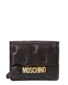 모스키노 로고 가죽 카드케이스 Moschino Logo Leather Card Case