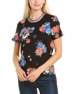 토리버치 플로럴 자수 반팔티 Tory Burch Floral Embellished T-Shirt