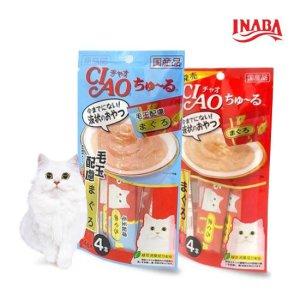 [이나바]고양이간식 이나바 챠오츄르 4P