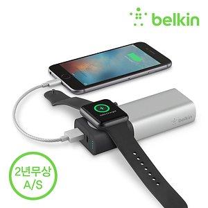 벨킨 애플워치 충전기 보조배터리 아이폰X 8 F8J201bt
