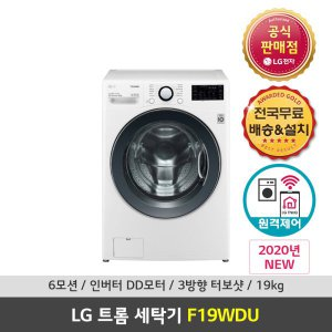 LG 트롬 F19WDU 드럼세탁기 19kg 화이트 공식대명