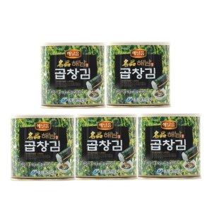 (당일출고) 단품 해달음 명품 해남 곱창캔김 35g 5캔