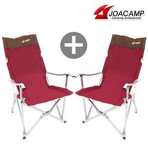 조아캠프 1+1 릴렉스체어 캠핑의자 야외 간이 보조