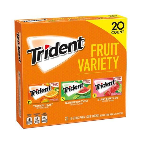 sm / trident fruit variety 20 pack Mondelez