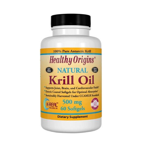 Healthy Origin Natural Krill Oil 500 mg 60sgs 81447