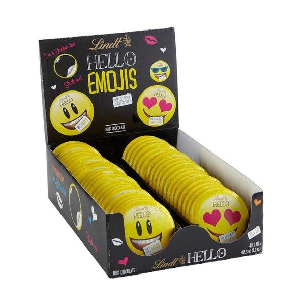 sm / emoticon chocolate 40ct Lindt Hello Emojis