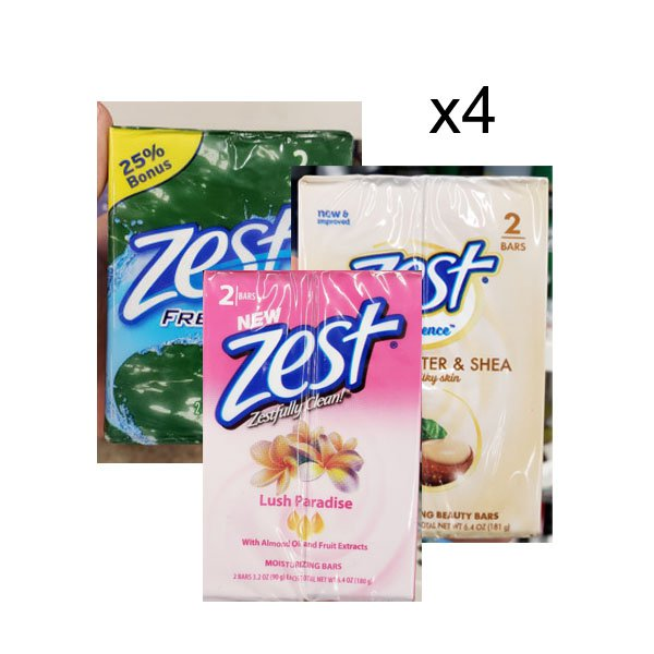 D / Zest 2 packs of soap 181gx4 Pack of 5