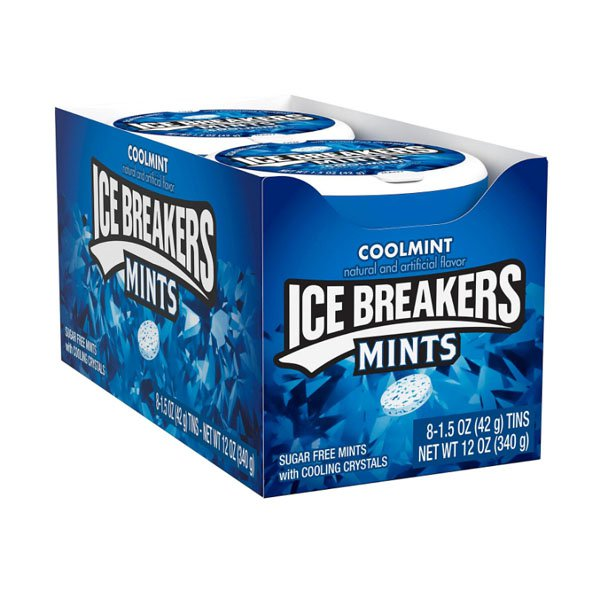 sm / Hirsch Ice Breakers Coolmint Gum 8 Pack Sugar Free