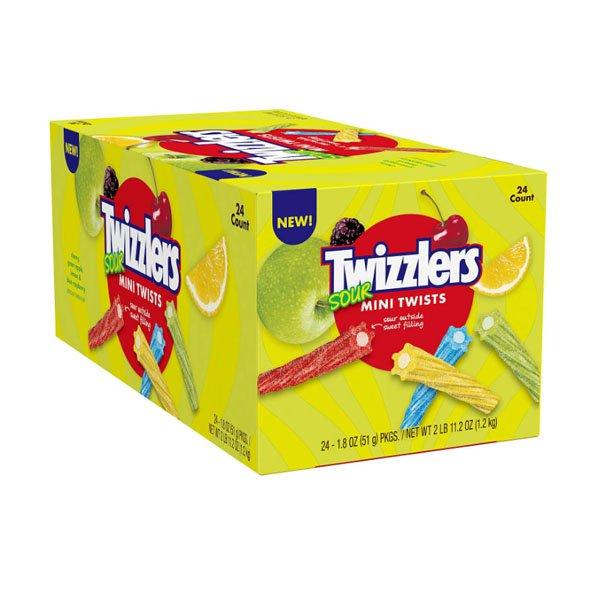 Twizzlers 24 pieces of sm / twizzler sour mini twist jelly