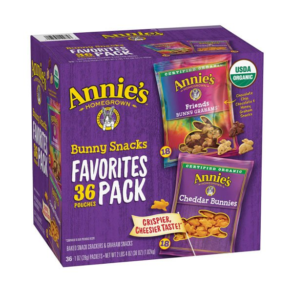 sm / anis Organic Bunny Snack Collection 36ct General Mills