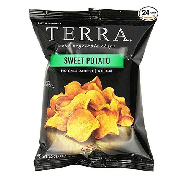Terra Sweet Potato Chips 24 rods unsalted potato chips TERRA