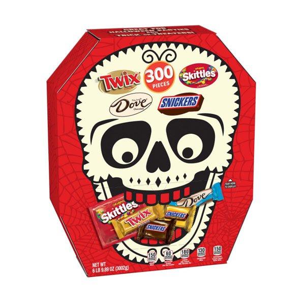 sm / Maz Halloween mini candy 300ct variety Skull box