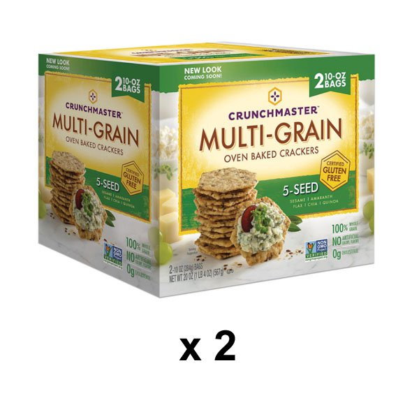 sm / Crunchmaster Multigrain 5-Seed Crackers 567gx2 Pack
