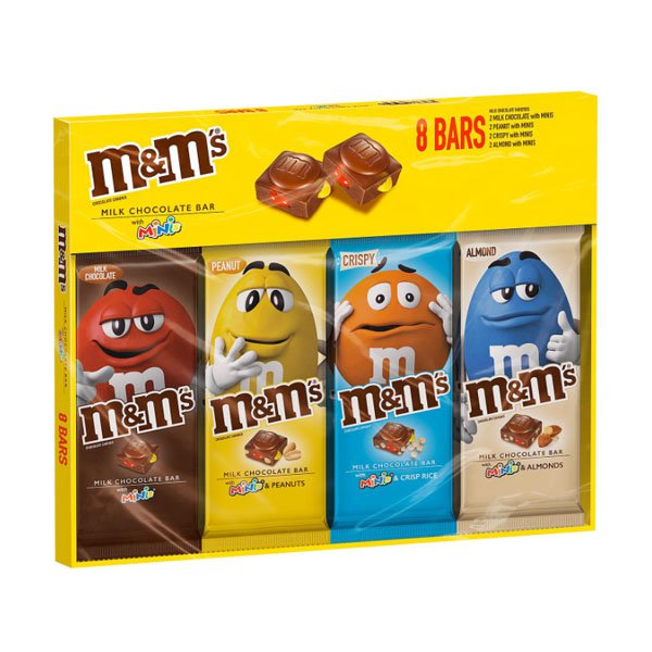 Sm / m & m's chocolate candy bar mini variety pack 8 pieces