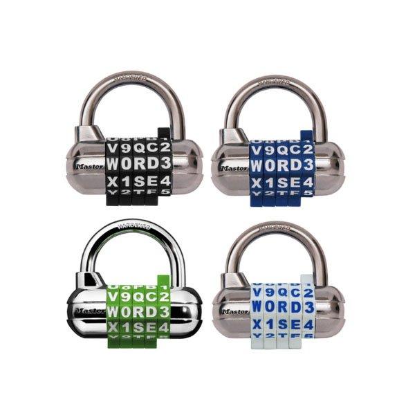 Master Lock 1534D Lock Numeral Escape Café Color Random