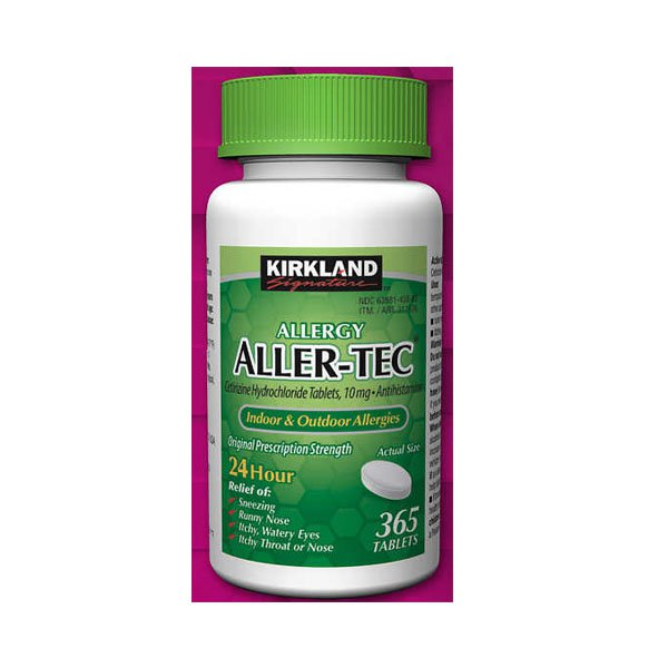 c / Kirkland Allertec 365 Tablets Aller-Tec 10mg