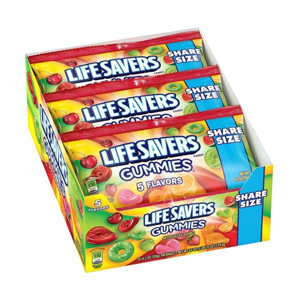 Wrigley with sm / lifesavers jelly candy candy 119 gx15
