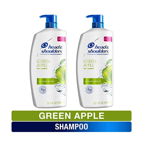 Head & Shoulder Shampoo 950mlx2 Treatments Green Apple