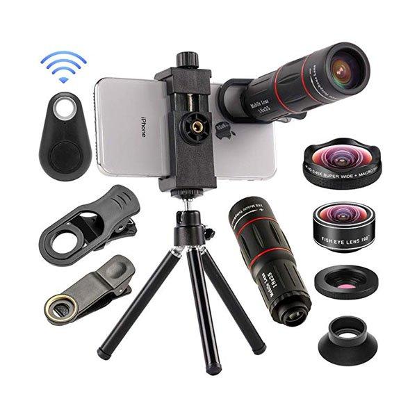 Mobile Phone Camera Lens Kit 4in1 Mocalaca