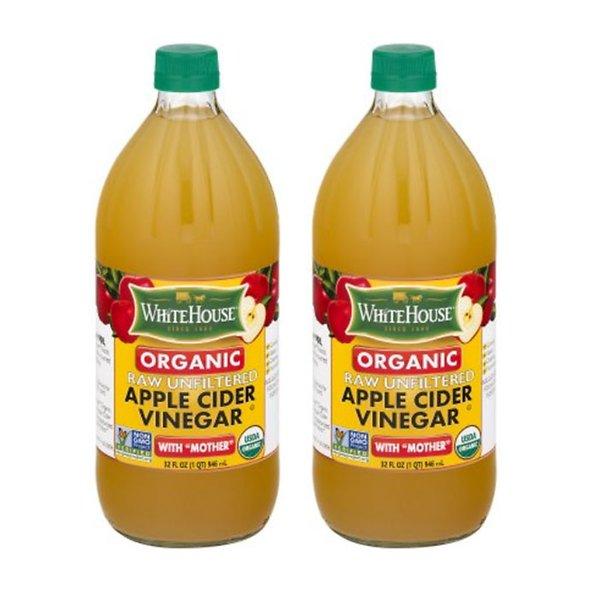 w / White House Organic Apple Cider Vinegar bottles 946mlx2