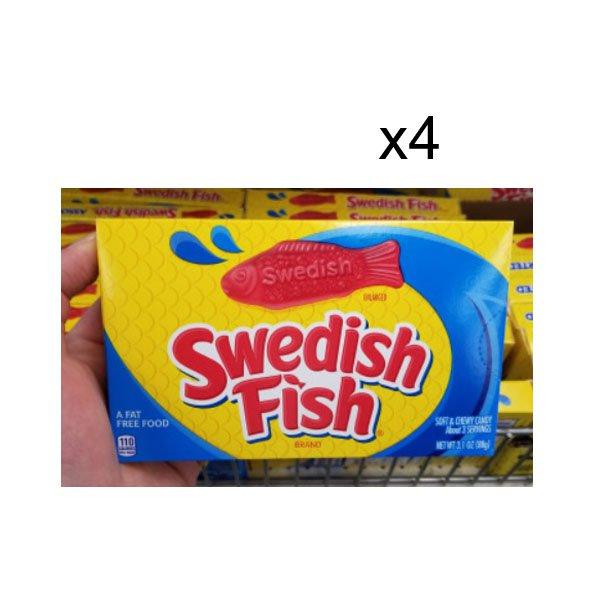 D / swedish fish jelly 88gx4 pack 3 types swedish