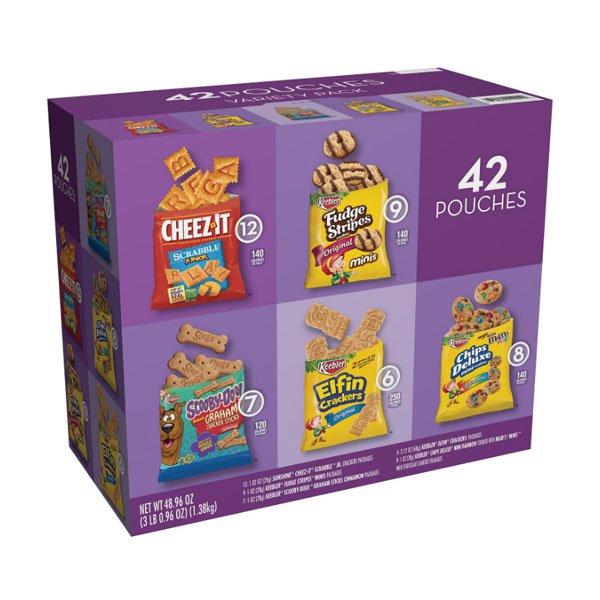 Sm / Kellogg Kobbler Cookies & Crackers Variety Pack 42