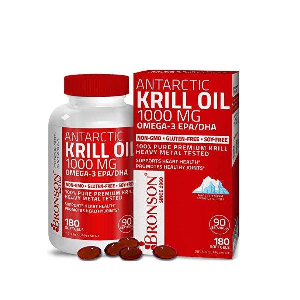 Bronson Antarctic krill oil 1000mg Omega 3 180sgs 727C